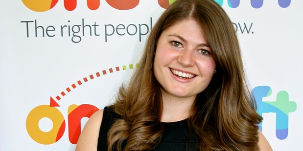 Oneshift's founder and chief executive, 23-year-old entrepreneur Genevieve George