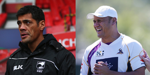 Stephen Kearney (left), David Kidwell (right), Richie Blackmore and Aussie Glenn Morrison have been shortlisted for the Kiwis coaching job. Photo / Getty Images.