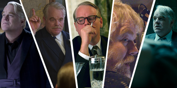 Philip Seymour Hoffman in 'Catching Fire', 'The Master', 'Capote', 'The Boat That Rocked' and 'A Most Wanted Man'.