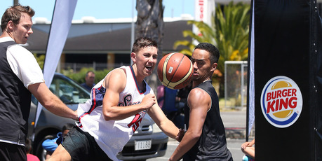 Action from the 3x3 National Basketball Competition.