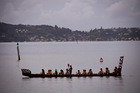 Waka crews out on the water during Waitangi celebrations held at Waitangi. Photo / Dean Purcell.