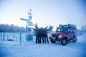 A group of Brits recently drove a Land Rover to the `Pole of Cold' - the point in Siberia that has recorded the coldest temperatures in history