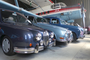 Jaguars at the National Transport and Toy Museum, near Wanaka.