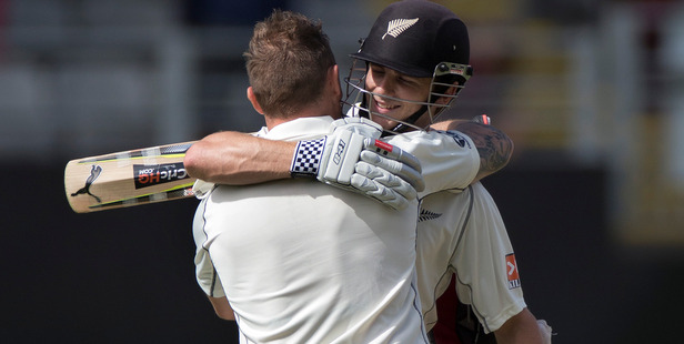 Both Brendon McCullum and Kane Williamson made centuries on the opening day of the first test against India/ Photo / Brett Phibbs