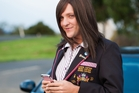 Chris Lilley as Ja'mie King in 'Ja'mie: Private School Girl'.