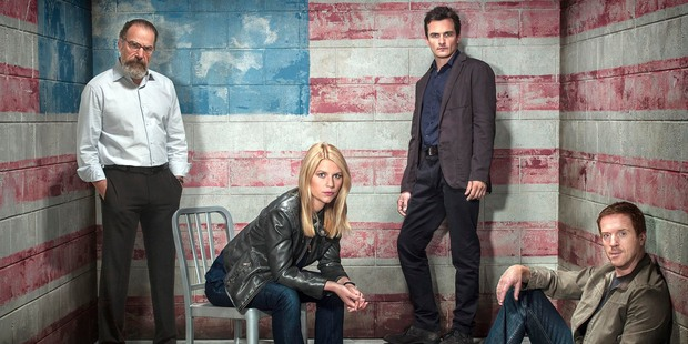 Mandy Patinkin, Claire Danes, Rupert Friend and Damian Lewis star in Season 3 of 'Homeland'. Photo / Showtime