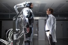 Joel Kinnaman, left, and Gary Oldman in a scene from 'Robocop'.
