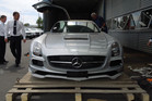 New Zealand's only SLS AMG Coupé Black Series was delivered to the Armstrong Prestige Dealership in Christchurch.
