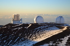 Astronomers love the clean, moisture-free air at the summit of Mauna Kea, which provides 300 days a year of clear views. Photo / Prue Scott
