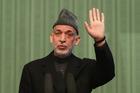 Afghan President Hamid Karzai said he