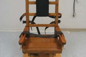 An electric chair which Virginia provides as an alternative to lethal injection. Photo / AP
