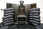 The firing squad execution chamber at the Utah State Prison in Draper, Utah. Photo / AP