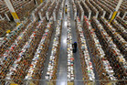One of Amazon's warehouses for goods to be shipped overseas. Photo / AP