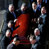 A casket bearing the remains of Philip Seymour Hoffman is carried out of St. Ingatius Loyola church after the actor's funeral. Photo / AP