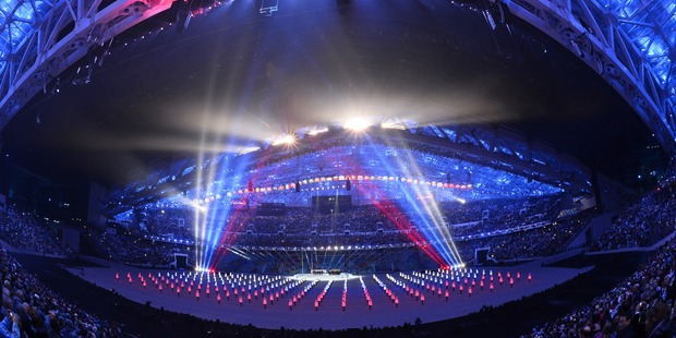 Dancers were well received during the opening ceremony at Sochi, Russia. Photo / AP