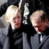Actress Cate Blanchett and her husband Andrew Upton leave the funeral of actor Philip Seymour Hoffman Friday. Photo / AP