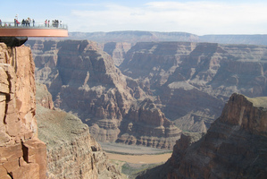 Visitors on Arizona's Grand Canyon Skywalk.