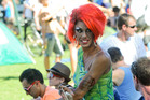 Venus Mantrapp in the crowds at the Big Gay Out festival at Coyle Park In Pt Chevalier. Photo / Jason Dorday