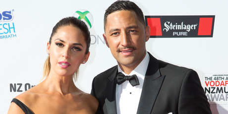 Zoe Marshall with husband Benji Marshall. Photo / Dean Purcell