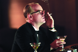 Philip Seymour Hoffman stars as writer and raconteur Truman Capote in Bennett Miller's film 'Capote' about the story behind Capote's book 'In Cold Blood'.