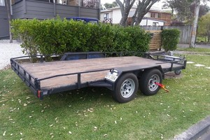 One of the stolen trailers.