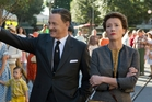 Tom Hanks as Walt Disney, left, and Emma Thompson as author P.L. Travers.