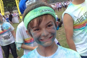 Louis Corbett did the Pukekohe Color Run last month and would really like to see the Boston Celtics play. Photo / AP
