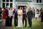 From left, Patrick Jephson, Mary Jo Jacobi-Jephson, Antonios Papaspiropoulos, Victoria Tobin, Colin Mathura-Jeffree and Tony Strong. Photo / Michael Craig