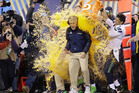 Seattle Seahawks head coach Pete Carroll is doused with Gatorade late in the second half of the NFL Super Bowl XLVIII. Photo / AP