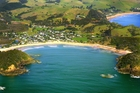 Matapouri Bay where a man was rescued from 1.8-metre waves. Photo/File