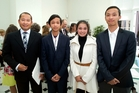 The Khun family (from left) Masal, Vishnun, Potey Uy and Vishnu after a citizenship ceremony at Government House in Wellington. Photo / Marty Melville