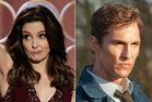 Host Tina Fey at the Golden Globes, Matthew McConaughey in True Detective and US President Barack Obama. Photos / AP