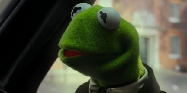 A still from Muppets: Most Wanted.