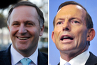Prime Minister John Key and his Australian counterpart Tony Abbott. Photos / Christine Cornege/Mark Graham