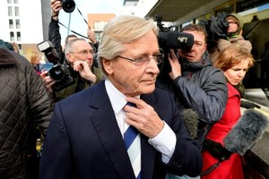 File photo of British television actor William Roache at Preston Magistrates Court. Photo / AP