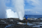 The Alofaaga Blowholes. Photo / Amelia Wade
