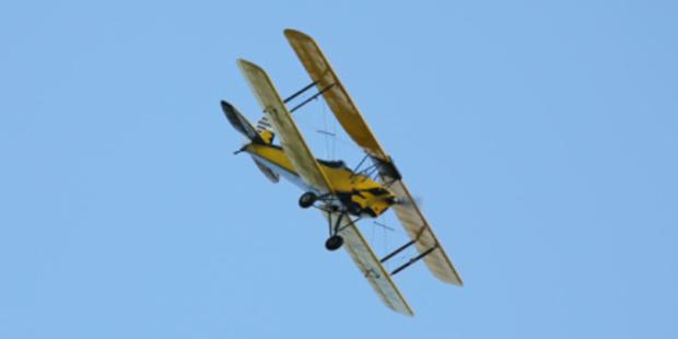 Joy Thornton flew a Tiger Moth biplane similar to this one. Photo/Thinkstock.