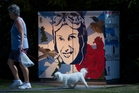Chris Newman's tribute to Jean Batten, on Springfield Rd took him a weekend to complete. Photo/Stephen Parker