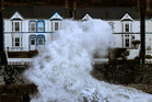 Storm waves break in Cornwall, England. Photo / Getty Images