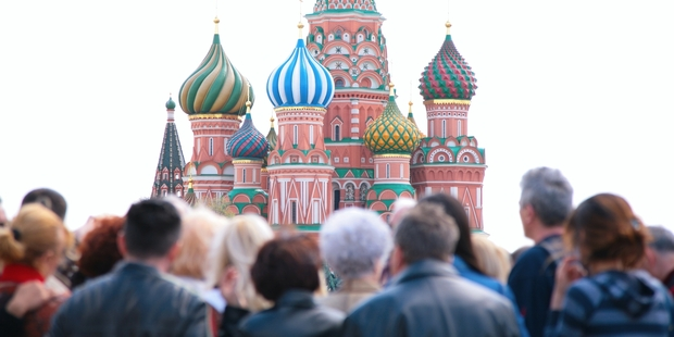 Tourists in Red Square, Moscow. Photo / Getty Images