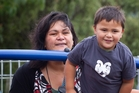 Nanaia Mahuta's son Waiwaia became more confident. Photo / Christine Cornege