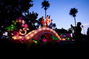 The Auckland Lantern Festival in Albert Park. Photo / File / Dean Purcell