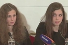 Two members of the Russian punk group Pussy Riot, who had been imprisoned for two years, claimed they were still part of the movement during a press conference in Berlin on Monday, after other members disowned them in a letter.