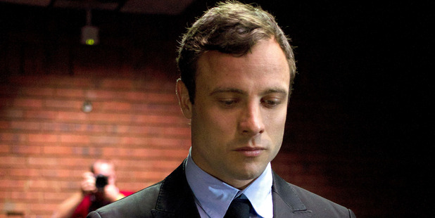 Oscar Pistorius appears at the magistrates court in Pretoria, South Africa. Photo / File / AP