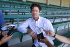 Former New Zealand cricketer Chris Cairns during a media statement about match fixing allegations, during the 4th day of the cricket 1st Test Match, between New Zealand and India, held at Eden Park.