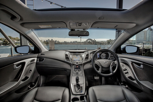 The 2014 Hyundai Elantra is deceptive with its space and performance.