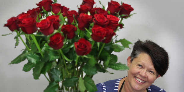 Blooms on Cameron florist Margaret Beck prepares to be rushed off her feet with people buying flowers for Valentine's Day. Photo/John Borren
