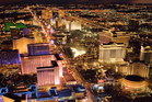 Las Vegas by night. Photo / Getty Images