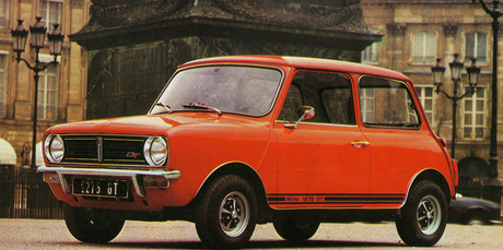 An early seventies Mini 1275 GT