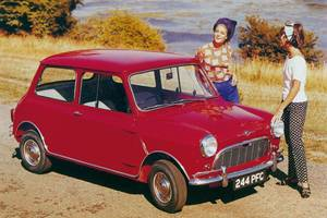 An early sixties Mini publicity shot